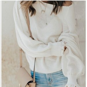Free People Oversized Elderflower Sweater